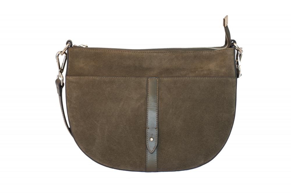Decadent Skylar Small Cross Body Suede Army
