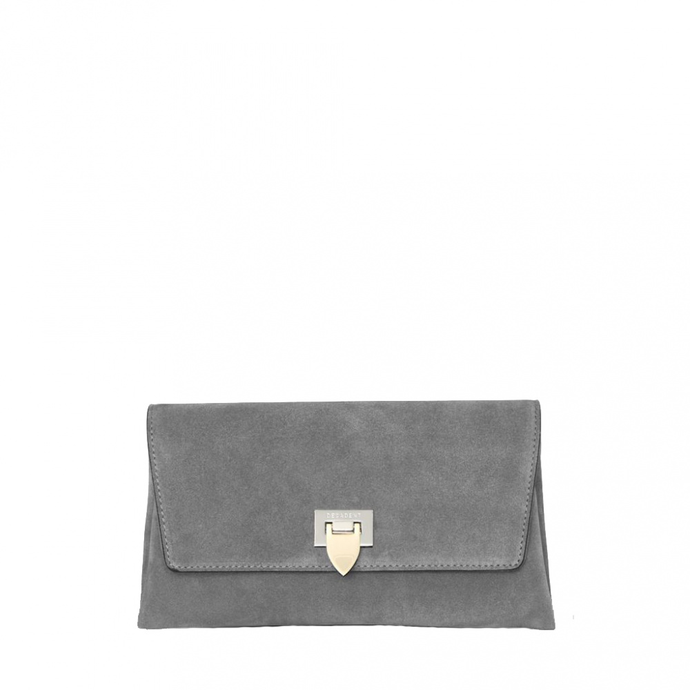 Decadent Nora Small Clutch Suede Grey