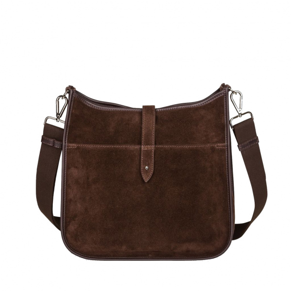Decadent Kylie Cross Body Suede Dark Brown