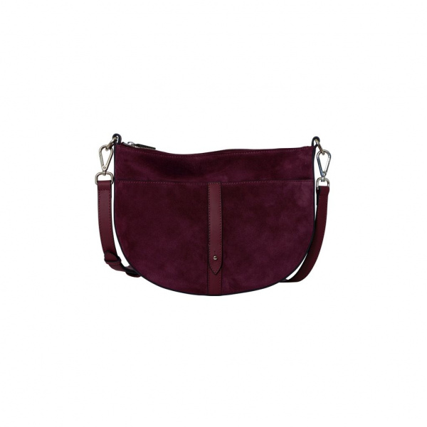 Decadent Skylar Small Cross Body Suede Oxblood